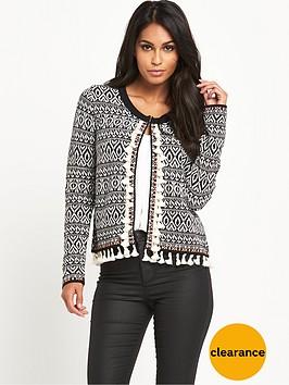 v-by-very-pomnbsppomnbsptassel-pattern-knitted-jacketnbsp