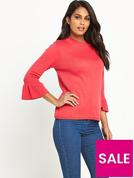 v-by-very-fluted-cuff-turtle-neck-jumpernbsp