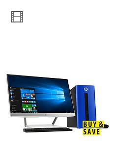 hp-pavillion-550-251na-intelreg-coretrade-i5-processor-8gb-ram-1tb-hard-drive-236-inch-desktop-bundle-with-optional-microsoft-office-365-personal-blue