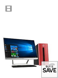 hp-pavillion-550-252na-intelreg-coretrade-i5-processor-8gb-ram-1tb-hard-drive-236-inch-desktop-bundle-with-optional-microsoft-office-365-personal-red