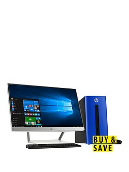hp-pavillion-550-211na-amd-a10-processor-8gb-ram-2tb-hard-drive-128gb-ssd-236-inch-desktop-bundle-with-amd-2gb-dedicated-graphics-and-optional-microsoft-office-365-personal-blue