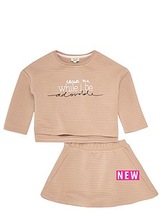 river-island-mini-girls-ribbed-sweater-and-skirt-set
