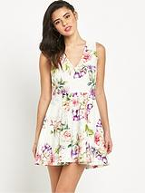 Michelle Keegan Floral Skater Dress