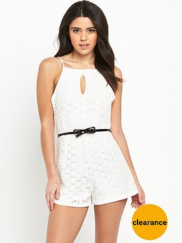 lipsy-ariana-grande-daisy-lace-belted-playsuit