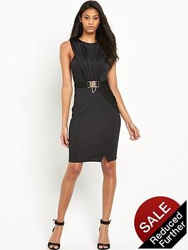 lipsy-chain-wrap-front-dress