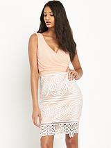 Michelle Keegan Crochet Wrap Dress