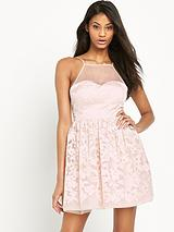 Ariana Grande Mesh Top Prom Dress
