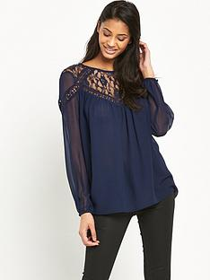 lipsy-embellished-blouson-top