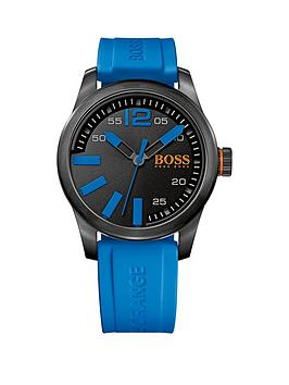 hugo-boss-paris-blue-strap-black-dial-gents-watch
