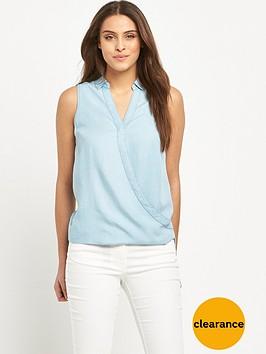 v-by-very-sleeveless-chambray-wrap-blousenbsp