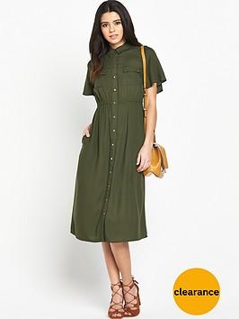v-by-very-angel-sleeve-midi-dress