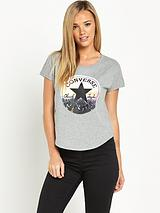 CONVERSE PHOTO CHUCK FEM SCOOP TEE