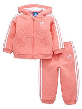 adidas originals adidas originals baby girl quilted fz suit