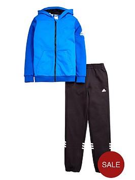adidas-older-boys-fleece-hojonbsptracksuit-blue