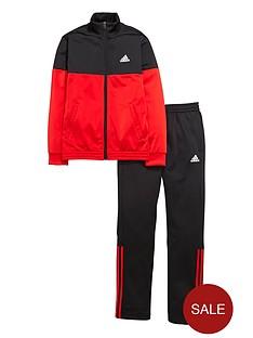 adidas-older-boys-tiberio-poly-tracksuit-redblack