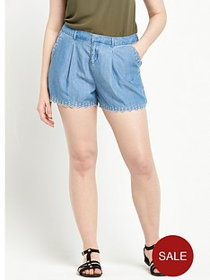 so-fabulous-embroidered-tencel-denim-shortnbsp