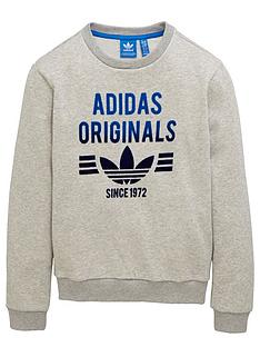 adidas-originals-older-boys-logo-crew-neck