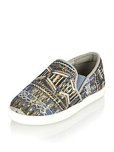 river-island-mini-girls-aztec-print-plimsolls