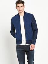 Zipped Sweat Bomber Jacket