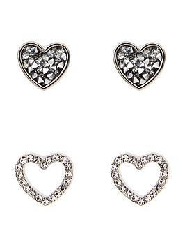 lipsy-ariana-grande-heart-earring-pack