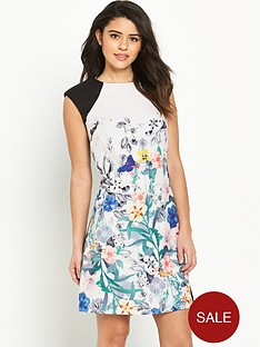 little-mistress-printed-crepe-shift-dress