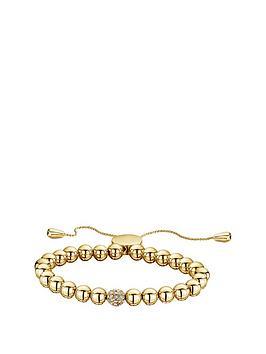 buckley-london-gold-tone-simplicity-bead-bracelet