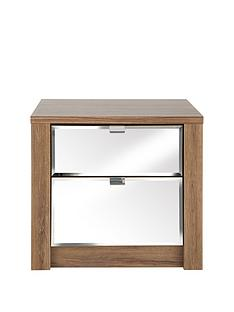como-mirrored-2-drawer-graduated-bedside-cabinet