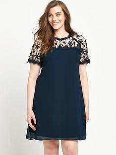 lovedrobe-lovedrobe-curve-lace-yoke-dress-with-shaped-hem-sizes-14-26-navy