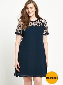 lovedrobe-lovedrobe-curve-lace-yoke-dress-with-shaped-hem-sizes-14-26-navy