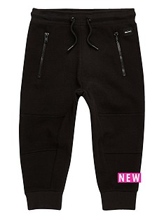 river-island-mini-mini-boys-black-zip-panel-joggers