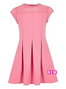 river-island-girls-pink-lace-neck-skater-dress