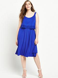 so-fabulous-trim-detail-double-layer-jersey-dress-blue