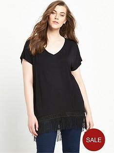 so-fabulous-tassel-curved-hem-jersey-top-black