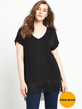 v-by-very-curve-tassel-curved-hem-jersey-top-black