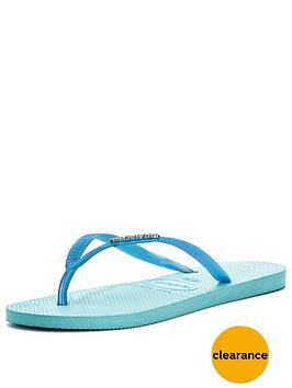 havaianas-slim-logo-metallic-flip-flop