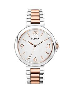 bulova-white-dial-2-tone-rose-gold-stainless-steel-ladies-watch