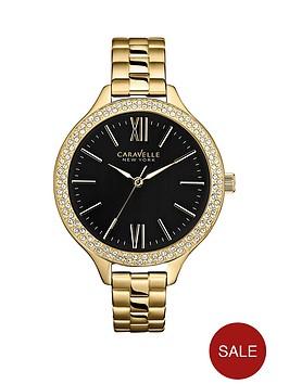 caravelle-new-york-black-dial-stainless-steel-ladies-watch