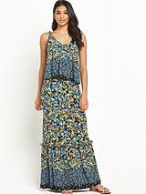 Frill Hem Jersey Maxi Dress