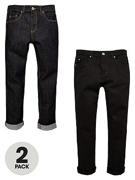 v-by-very-boys-straight-fit-jeans-in-black-and-indigo-2-pack