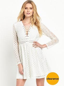 v-by-very-lace-up-dress
