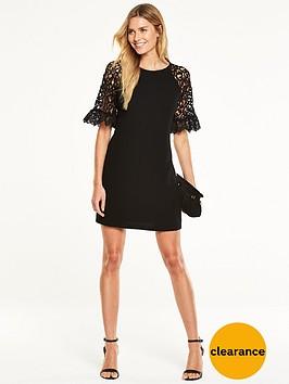 v-by-very-crochet-sleeve-shift-dress