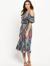 Gypsy Cold Shoulder Jersey Midi Dress