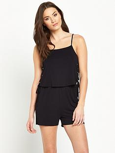 v-by-very-tie-side-lace-up-jersey-playsuit