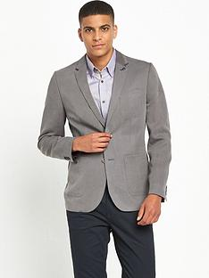 ted-baker-fitted-cotton-curved-hem-blazernbsp