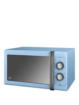 swan-sm22070bln-25-litre-retro-microwavenbsp--blue