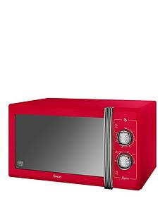 swan-25-litre-retro-microwave-red