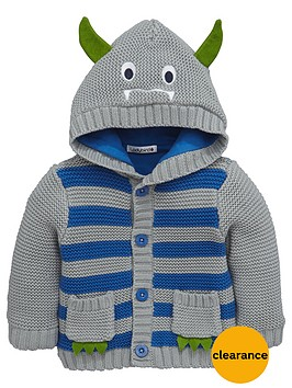 ladybird-baby-boys-hooded-knitted-cardigan-with-monster-appliques