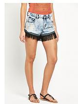 Tassel Denim Shorts