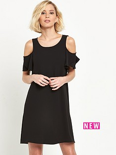 river-island-cold-shoulder-ruffle-swing-dress