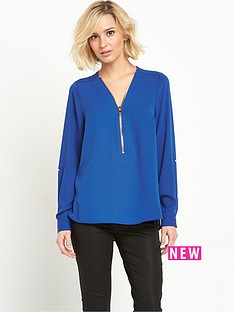 river-island-zip-front-blouse